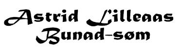ASTRID LILLEAAS BUNAD-SØM